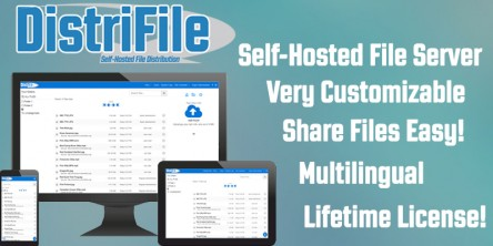 DistriFile LITE & PRO features a lifetime license, self-hosted, customizable and multilingual.